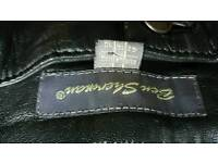 Ladies real leather Ben sherman leather trousers size 14 excellent