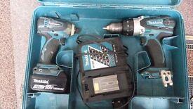 MAKITA twin pack 18V BHP458 AND BTD146 Cordless Combo Kit