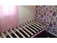 pink single bed frame
