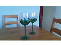 Gorgeous hand painted wine glasses
