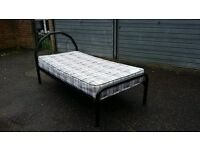 Nice single bed frame with mattress (delivery available)