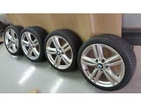 bmw alloy wheels 245/35/18 stunning set of wheels new tyres