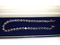 9ct White Gold Tanzanite bracelet