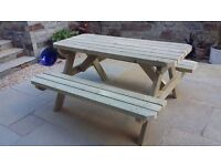 Picnic benches made to order
