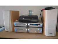 Technics mini hi-fi system + turntable and 10x recordable minidisks