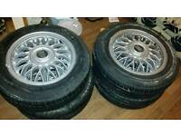 Bbs rj 15 inch vw alloy wheels. 4x100. Mk1 mk2 vw golf etc