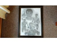 FRAMED PRINT OF MUHAMMAD ALI