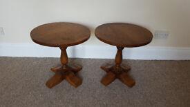 Oak side tables (pair)