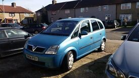 VAUXHALL MERIVA 1.6 PETROL, VERY GOOD CONDITION ,2004 YER , LONG MOT, ONLY!! 445 POUNDS ONO!