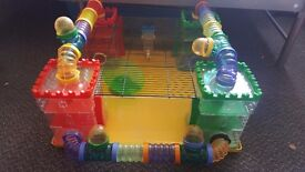 Hamster Castle Cage Activity Centre Extra Large w/ Tubes & Wheel