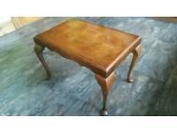 Small Dark Wood Vintage Coffee Table