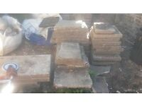 FREE to good home - approx 25 large concrete paving slabs