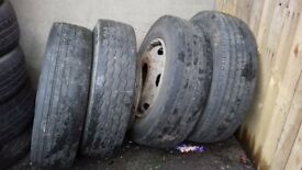 5 wheels for ford iveco 205/75 R17.5