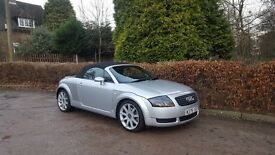 2000 AUDI TT 1.8 TURBO CONVERTIBLE SILVER MANUAL ROOF 225 BHP LEATHER INTERIOR BARGAIN