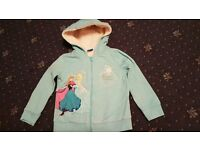 Disney Frozen zip up hooded jacket, age 4-5 from Tesco.