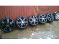 Ronal audi alloys 5x100 fit audi vw skoda ect (bargain)