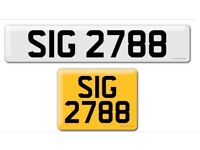SIG 2788 private cherished personalised personal registration plate number