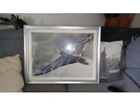 Vulcan Plane framed Picture with fact insert.