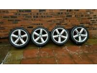 "Audi S Line Alloys Genuine 18"" With Tyres"