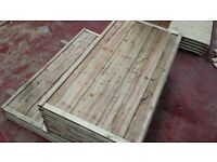 🌟 Excellent Quality Waneylap Timber Fencing Panels 8mm Boards