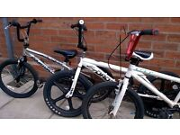 3 boys bmx bikes with 20 inch wheels all in good working order see photo