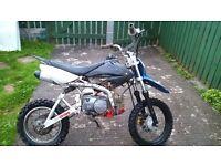 110 cc lifan pit bike semi auto