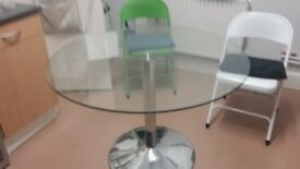 Lovely Round Glass Dining Table