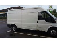 FORD TRANSIT 350 2.4 LWB 90 M WITH A SEMI HIGH ROOF. PANEL VAN IN WHITE, DIESEL.
