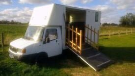 Horsebox with new living 3.5t LDV Convoy 2000 Xreg. No sensible offer refused. No timewasters!