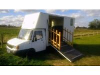 Horsebox with new living 3.5t LDV Convoy 2000 Xreg. No sensible offer refused. No timewasters!