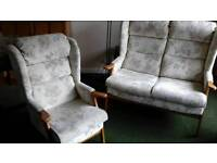 HSL 2 seater and armchair