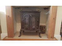 Ornate wood burner
