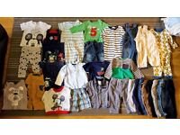 Baby boy clothes 6-9 in good clean condition from a smoke and pet free home