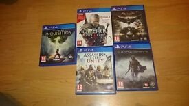 Ps4 games in very good condition .Only 2 left '''Bargain'''