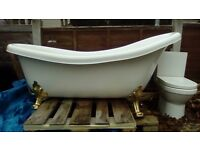 Freestanding Roll Top Bath Acrylic 1700mm long