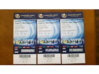 ENGLAND VS NEW ZEALAND GOLD CHAMPIONS TROPHY X3 TICKETS