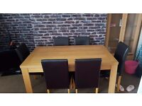 Table and 6 chairs good condition SOLD
