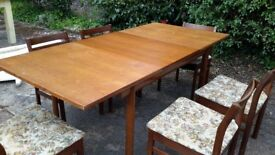 Retro 50s dining table 6 chairs