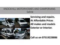 Motorhomes Repairs servicing at affordable prices