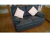 Compact 2 seater leather sofa