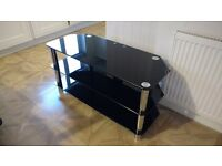 TV corner unit, black glass, £30, pick up only