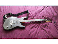 Rare strat copy Washburn guitar with extras for sale