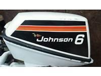 Boat outboard jonhson 6hp with 12l fule tank