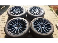 18 FORD RS STYLE ALLOY WHEELS BRANDED TYRES CONNECT FOCUS MONDEO GALAXY 5 X 108