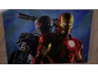 Original Marvel Ironman acrylic painting on canvas