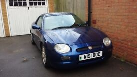 MGF Convertible 1.8 Petrol MOT July 2018 Hard Top Included!. Great Runner
