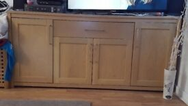 Large oak sideboard, slight mark on one door but very solid and in good condition