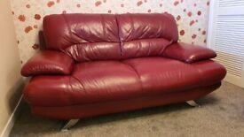 Double Leather Sofa