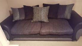 DFS 4 Seater Sofa and Cuddle Sofa