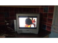Sony Trinitron KV-14CT1U Portable TV c/w Sony Digital Set-top Receiver VTX-D800U in good condition